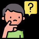 Illustration av person som ställer frågor angående 500 casino bonus